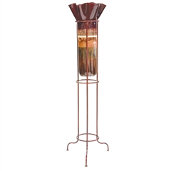 Sugar Plum Large Glass Ruffle Top Floor Urn by Couleur