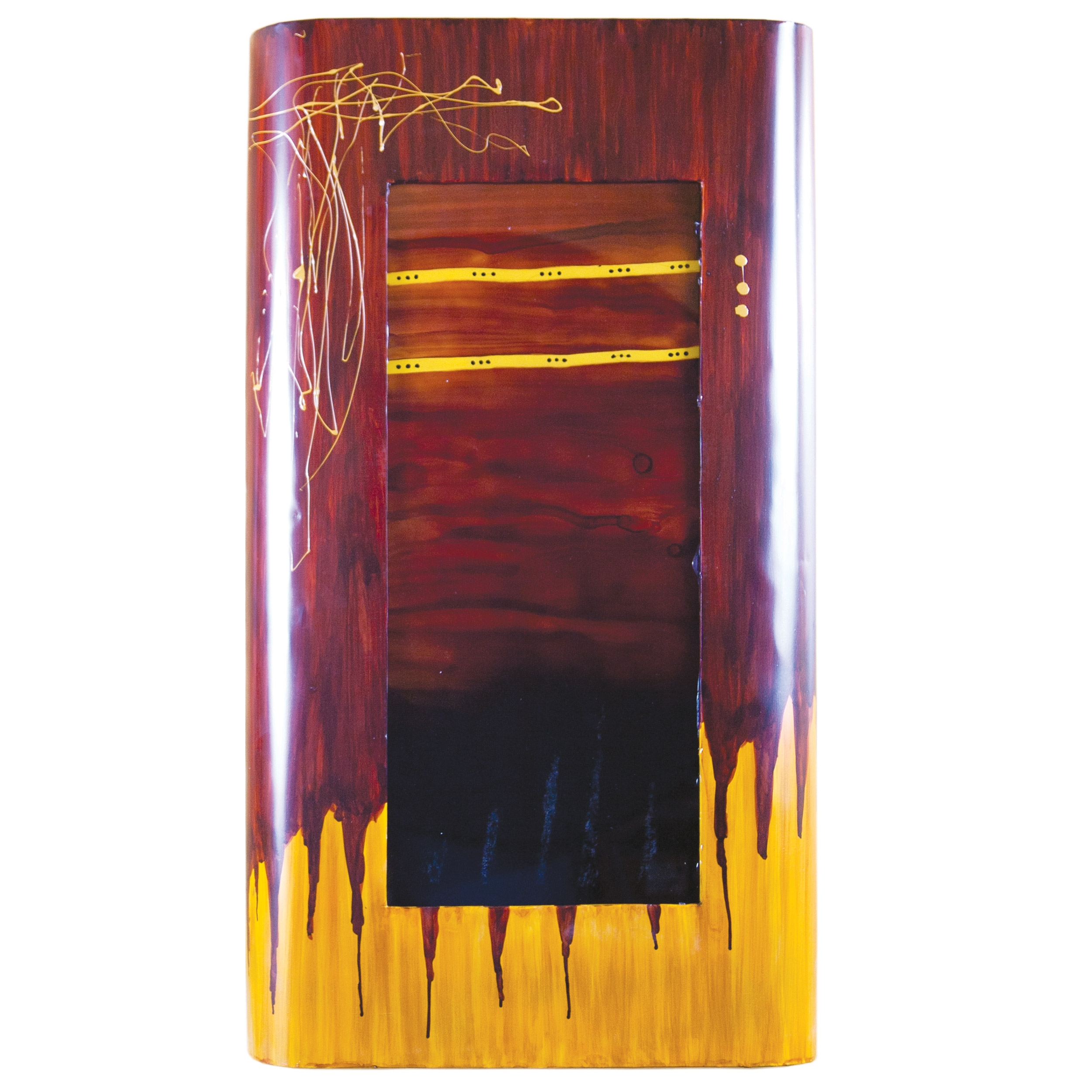 Large Red Dawn Rectangle Wall Art Couleur