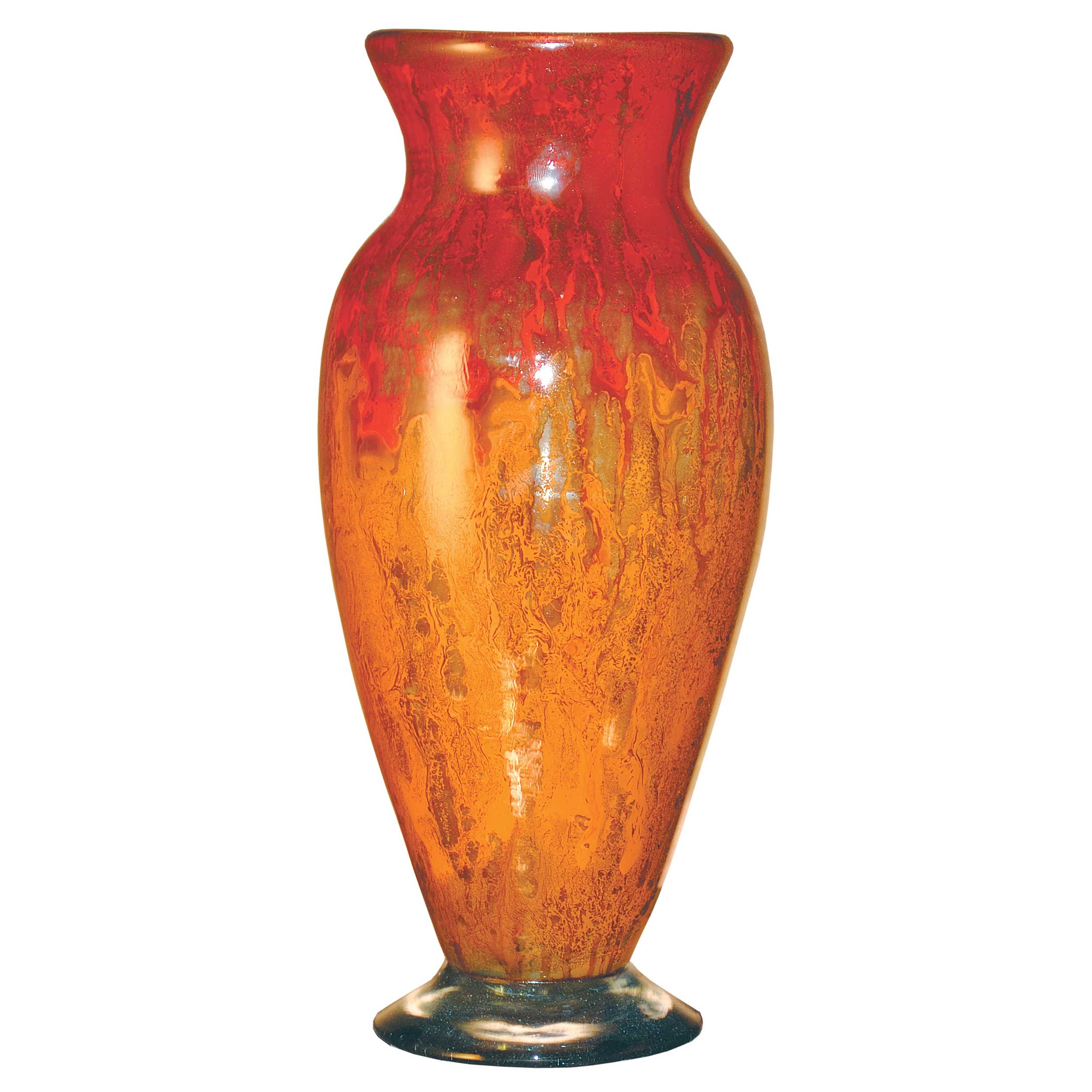 Pictured here is the orange glow glass vase from couleur for Orange vase