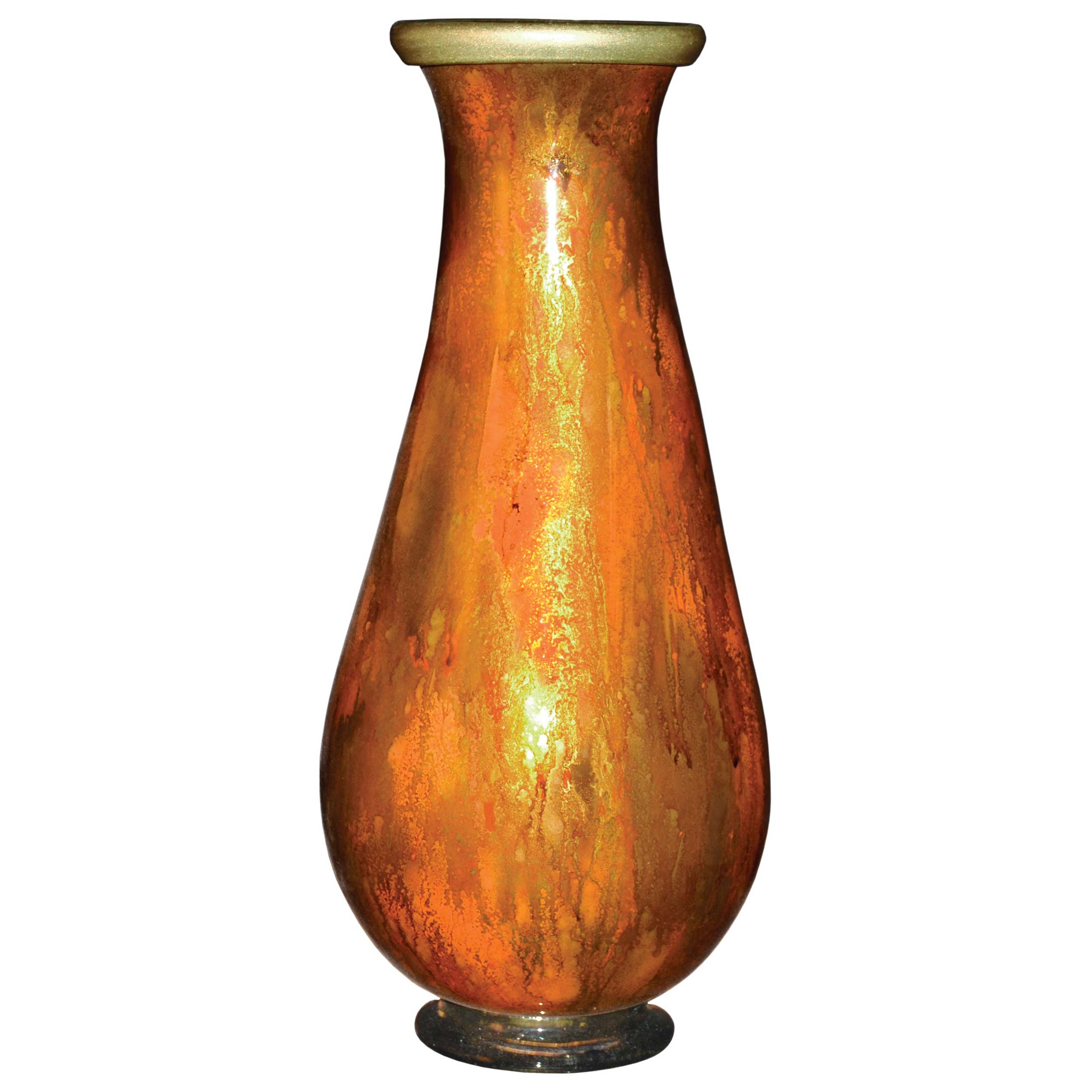 Pictured here is the feather gold glass vase from couleur