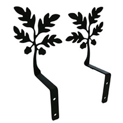 Wrought Iron Acorn Swags