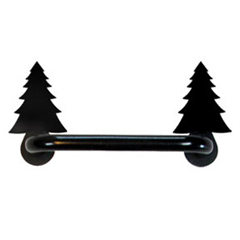 Wrought Iron Pine Tree Cabinet Door Handle