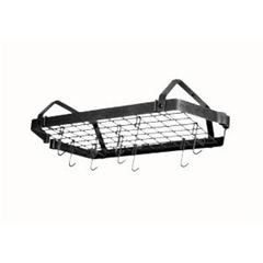 Enclume Low Ceiling Rectangle Pot Rack with Grid