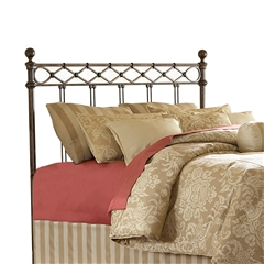 Argyle Iron Headboard Diamond Design Copper Chrome Finish