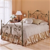 Aynsley Iron Bed ScrollWork Design Alabaster/Majestique Finish