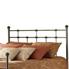 Dexter Iron Headboard Hammered Brown Finish Sleek Design