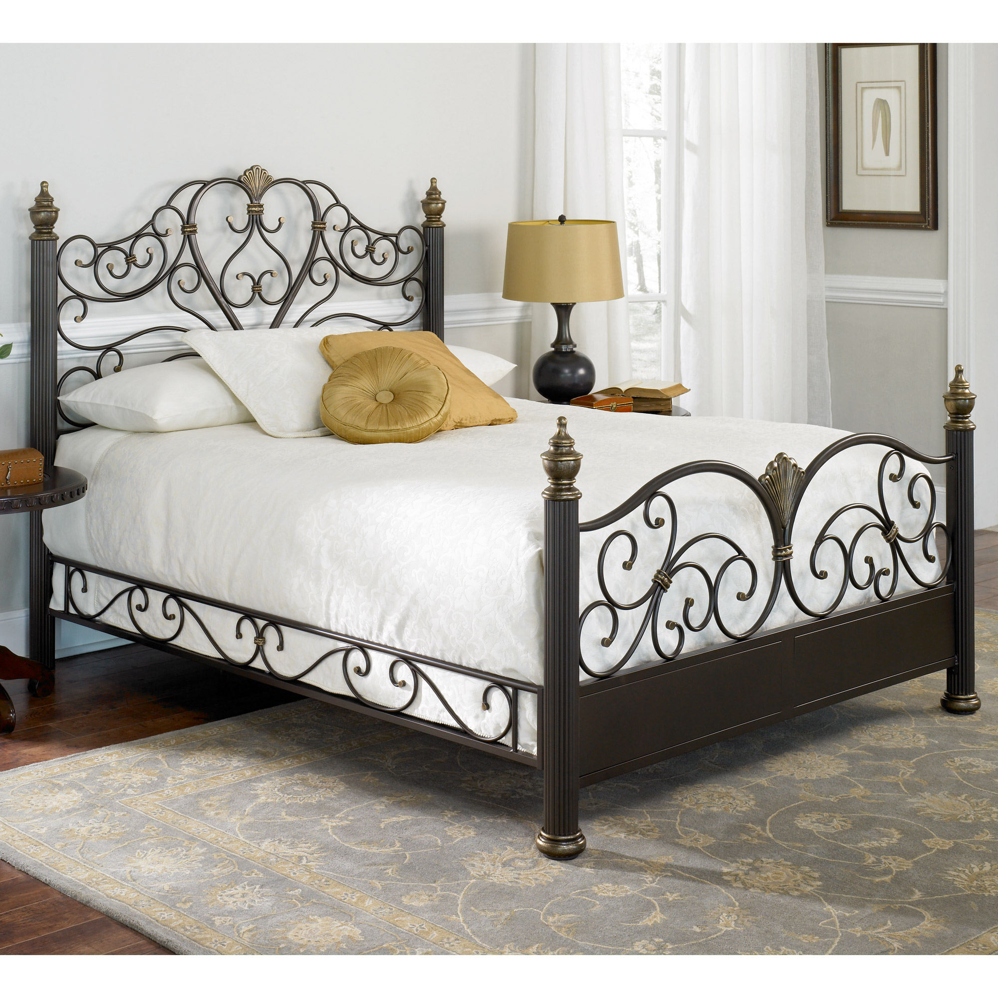 Antique Full Size Wrought Iron Bed