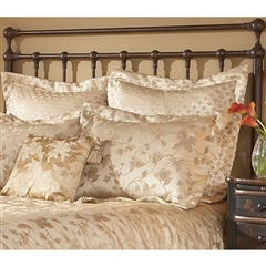 Langley Iron Headboard Copper Penny Finish Traditional Design