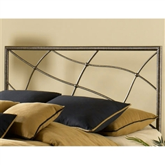 Sonata Iron Headboard Contemporary Speckled Sesame Finish