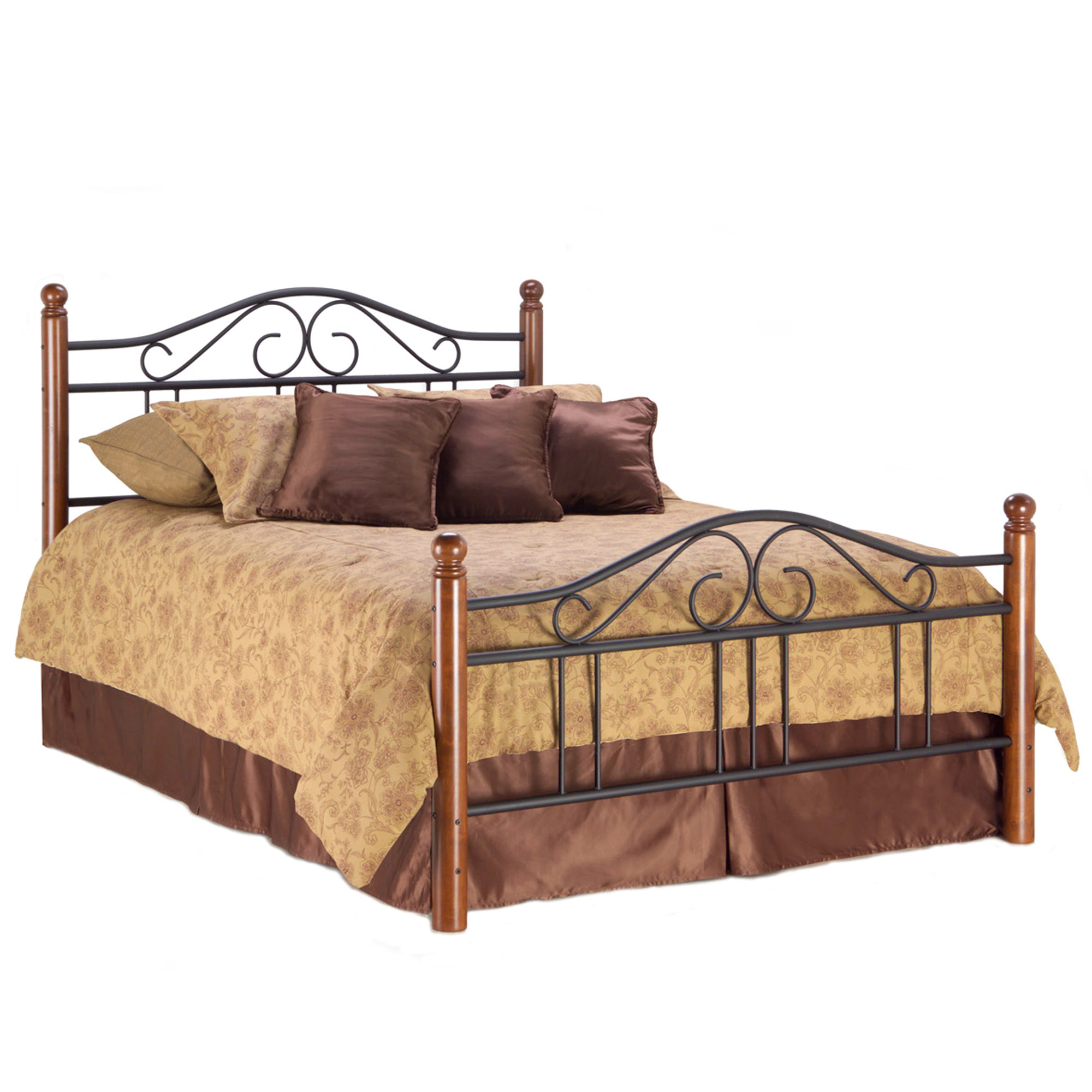 Weston Iron amp Wood Bed Matte BlackMaple South West Style
