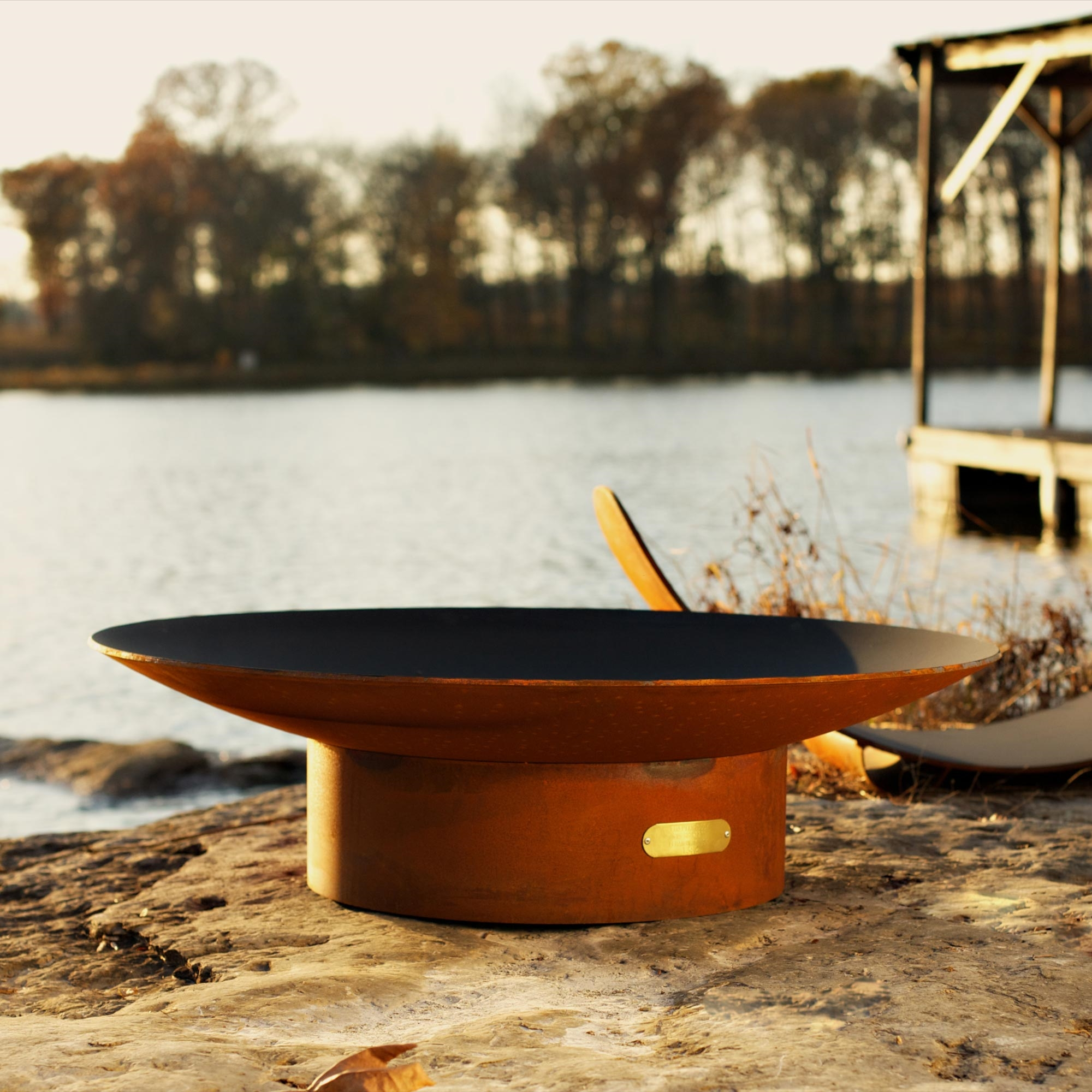 Asia 36 Inch Outdoor Fire Pit Atistically Hand Crafted By