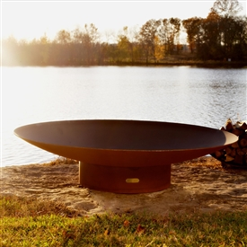 Asia 72 inch Outdoor Fire Pit atistically Hand-crafted by Fire Pit Art and sold at TimelessWroughtIron.com