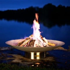 Bella Vita Outdoor Fire Pit atistically Hand-crafted by Fire Pit Art and sold at TimelessWroughtIron.com