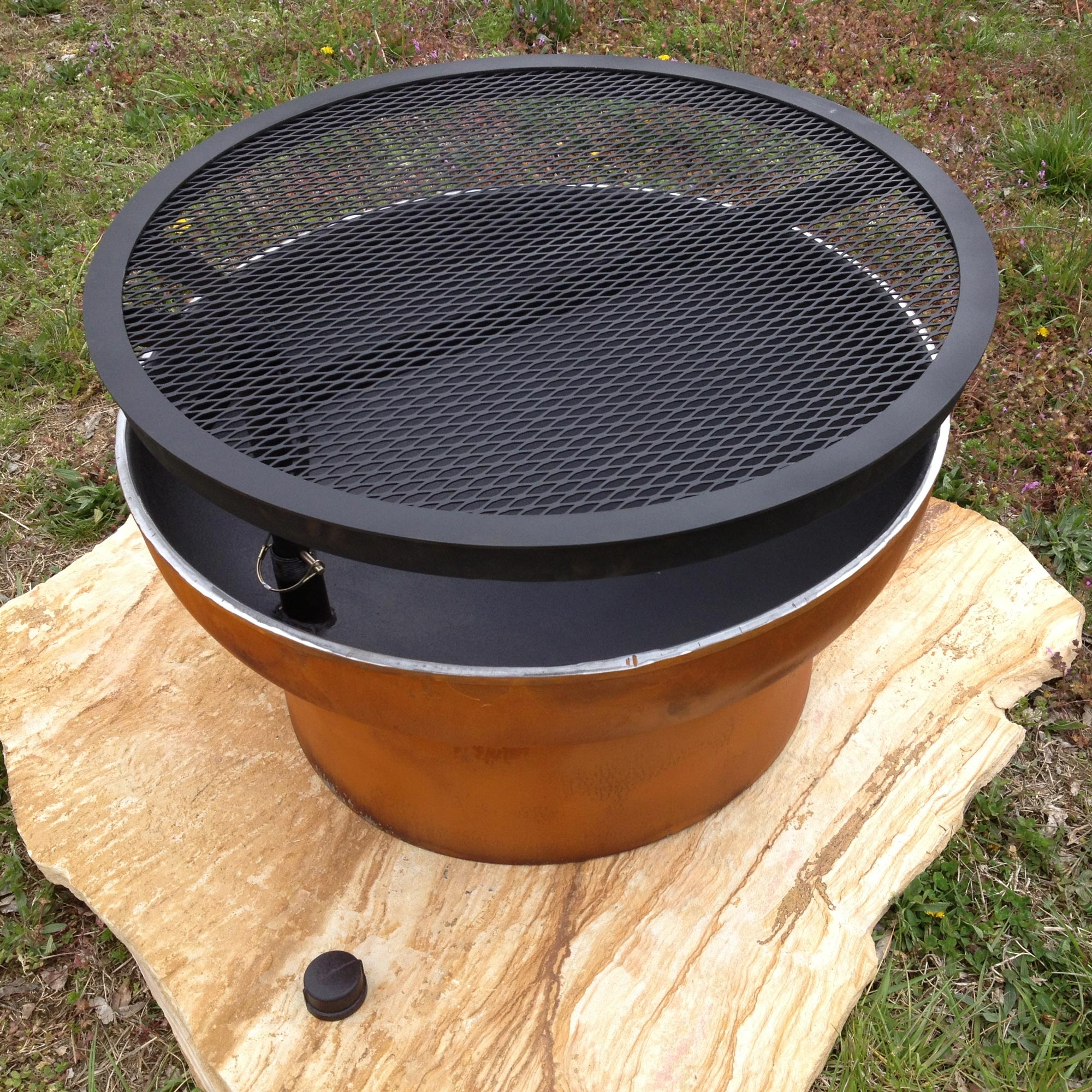 Outdoor Grill Pit   30in Diameter   Timeless Wrought Iron