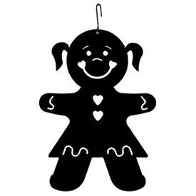 Wrought Iron Gingerbread Girl Silhouette
