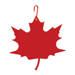 Wrought Iron Maple Leaf Silhouette-RED