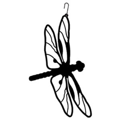 Wrought Iron Dragonfly Silhouette