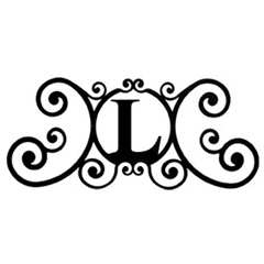 Wrought Iron House Plaque Let L