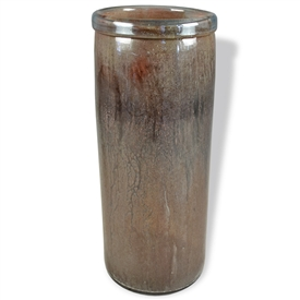 Pictured here is the Brown Sugar Lip Cylinder Glass Vase from Couleur