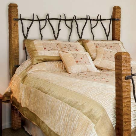 Pictured Here Is The South Fork Wrought Iron Headboard