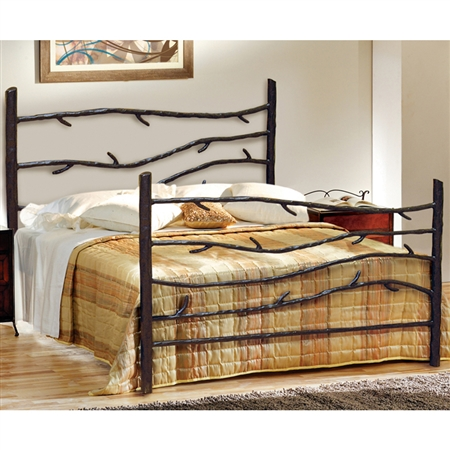 Rustic Woodland Wrought Iron Bed Queen Or King