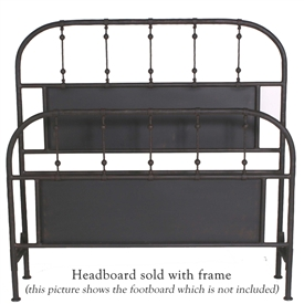Pictured here is the Burlington Wrought Iron Headboard hand forged by artisan blacksmiths.