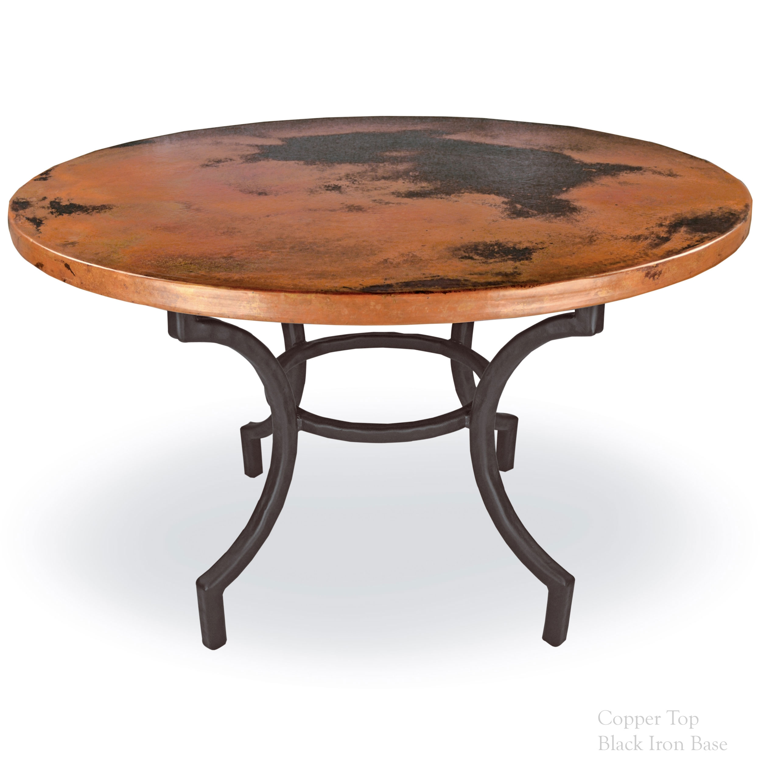 Pictured Here Is The Corinthian Dining Table With 48inch Table Top And Hand Crafted Wrought Iron