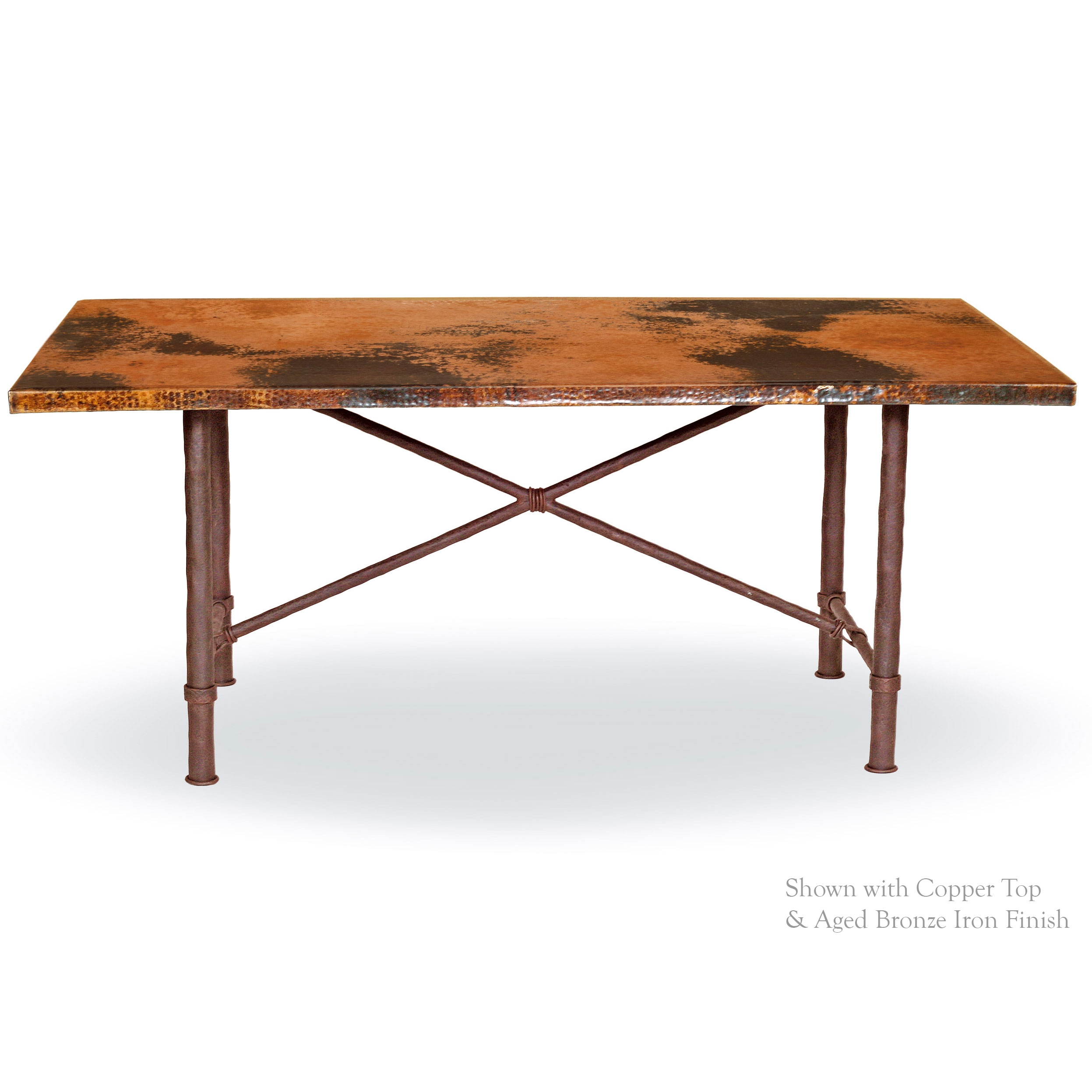 Pictured here is the burlington dining table with 44 x 72 for Table y copper