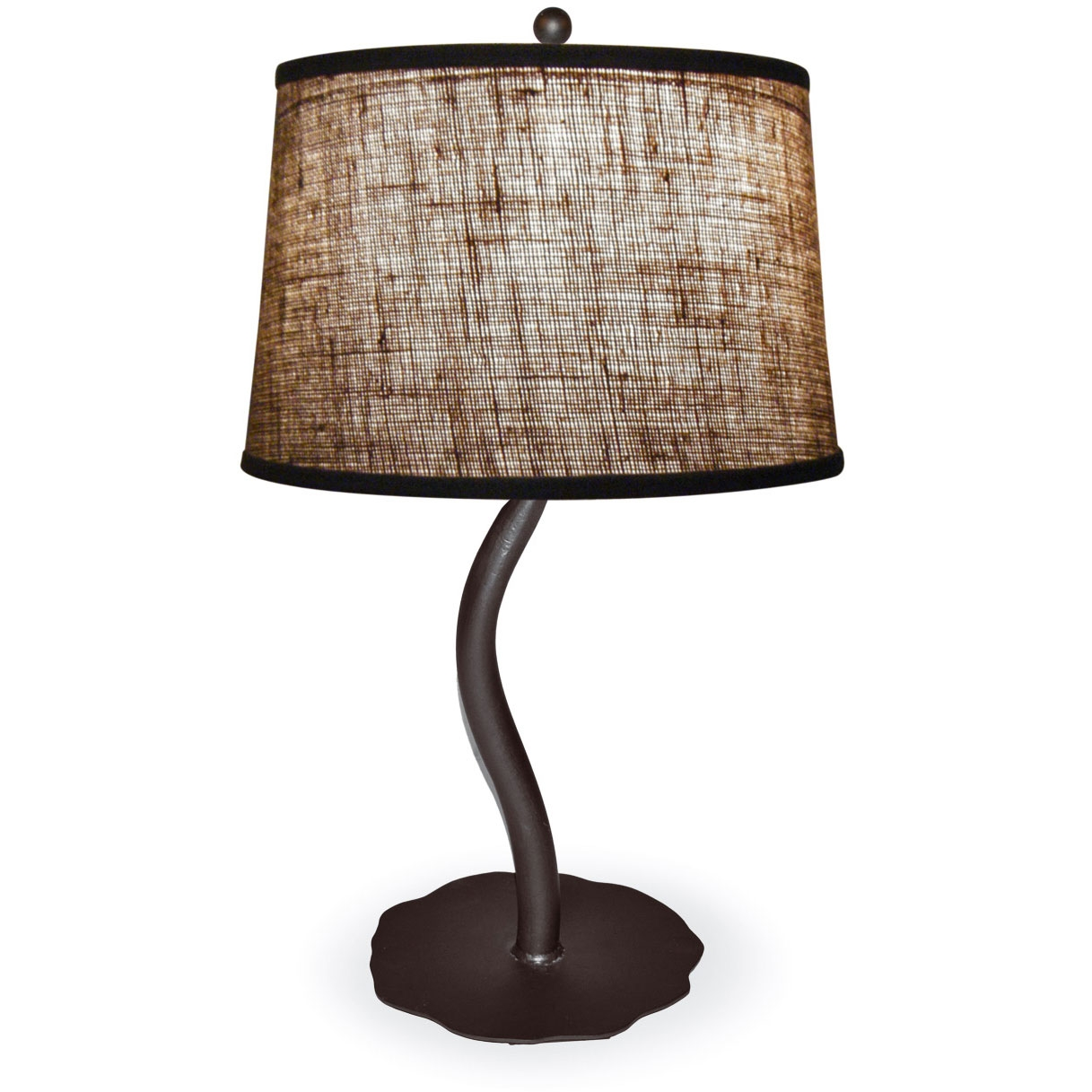 style wrought iron diamondback table lamp hand made by mathews co. Black Bedroom Furniture Sets. Home Design Ideas