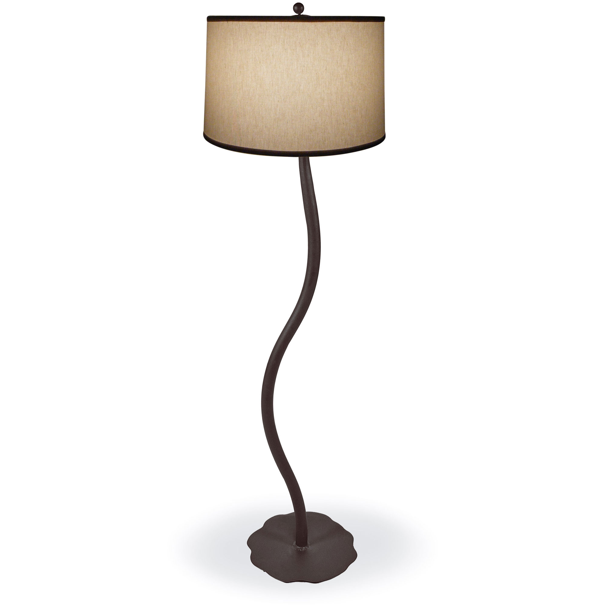 style wrought iron diamondback floor lamp hand made by mathews co. Black Bedroom Furniture Sets. Home Design Ideas