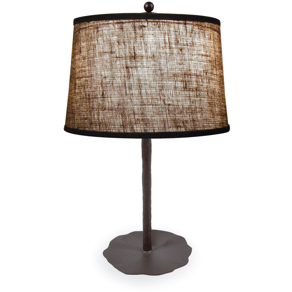 style wrought iron preston table lamp hand made by mathews co. Black Bedroom Furniture Sets. Home Design Ideas