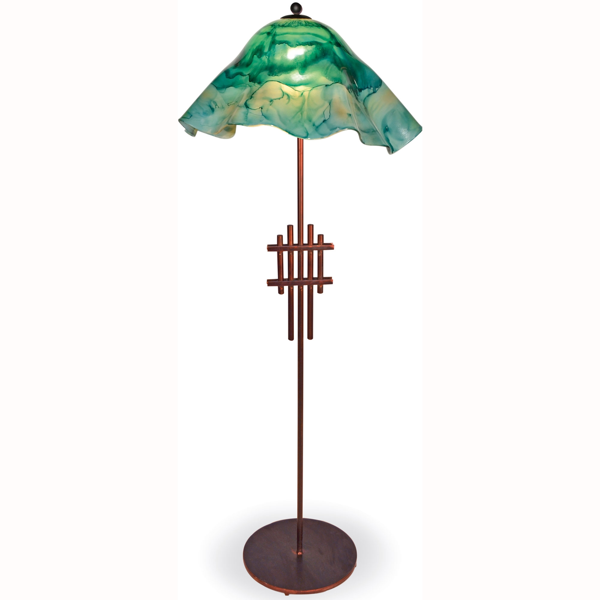 metropolis floor lamp with glass shade timeless wrought iron. Black Bedroom Furniture Sets. Home Design Ideas
