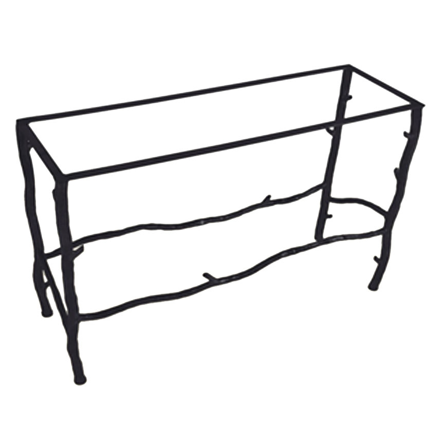 Pictured here is the south fork console table base only for Wrought iron sofa table base
