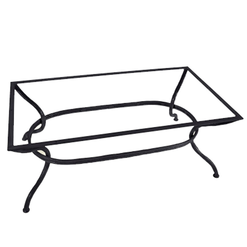 Pictured here is the woodland cocktail table base only for Wrought iron cocktail table bases