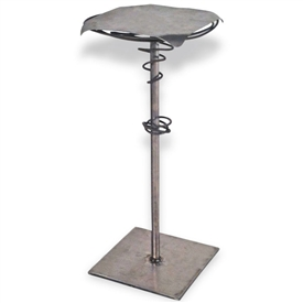 Pictured here is the Gyro Accent Table hand crafted by skilled artisan blacksmiths.