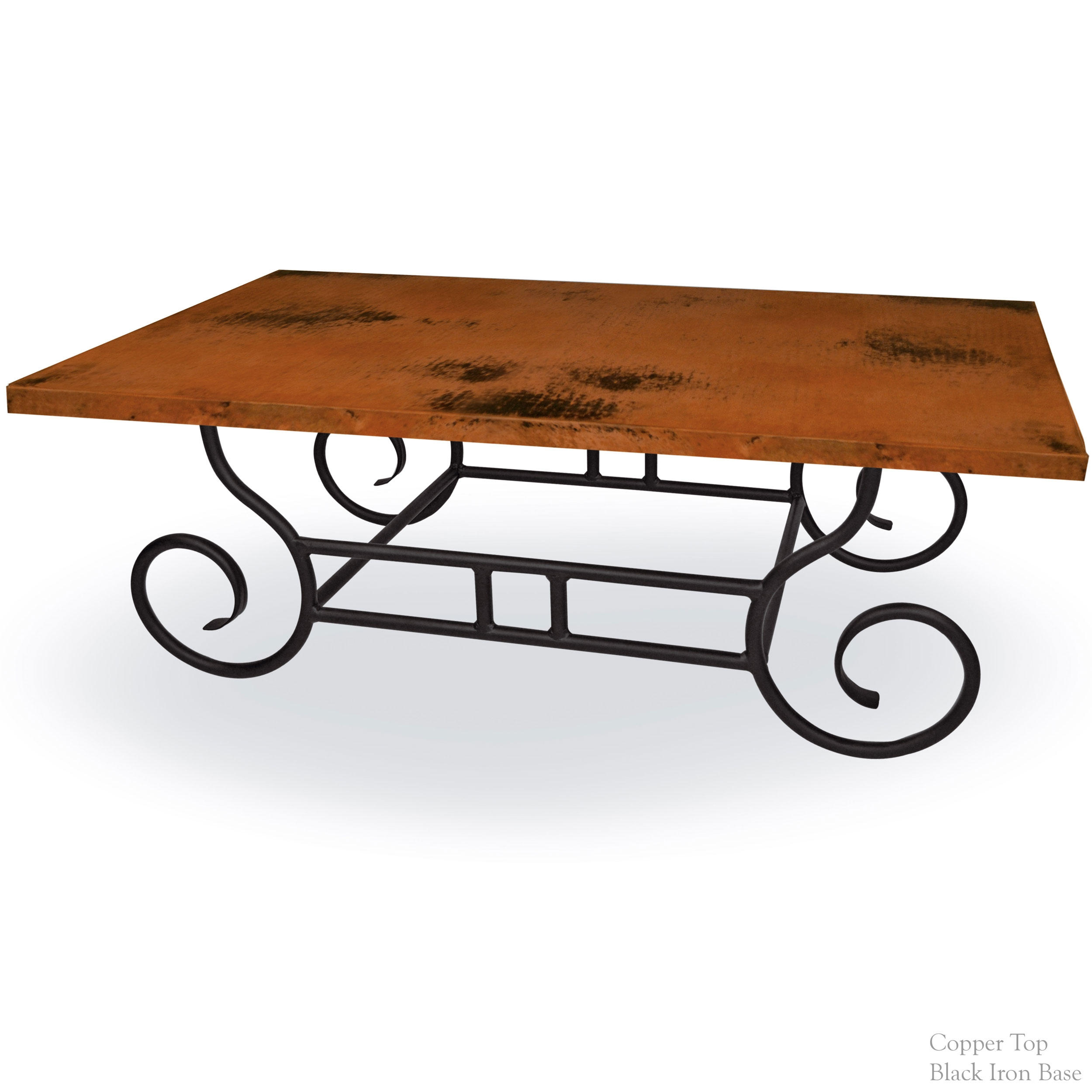 Pictured is the whitaker cocktail table base with black for Wrought iron cocktail table bases