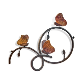 Butterfly Vine Table Decor made by Mathews & Co. Sold at Timeless Wrought Iron