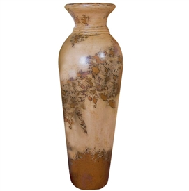 Pictured here is the handcrafted Bellagio Large Ceramic Vase in our Aged Cream finish which measures 14 inches in diameter by 42 inches high.