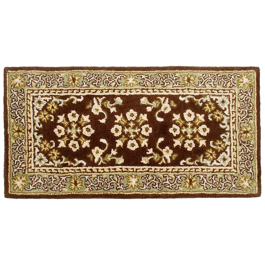 Oriental Coffee Rectangular Rug Fire Resistant