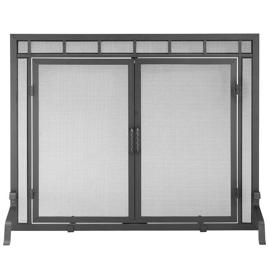 home fireplace hearth fireplace screens single panel fir