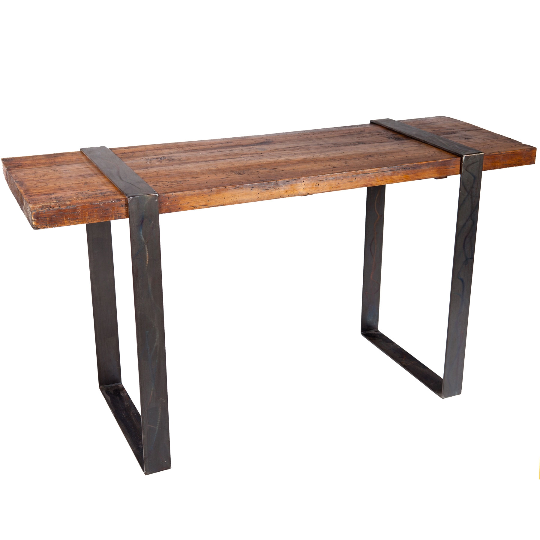 Pictured here is the jackson console table with wrought for Wood table iron legs