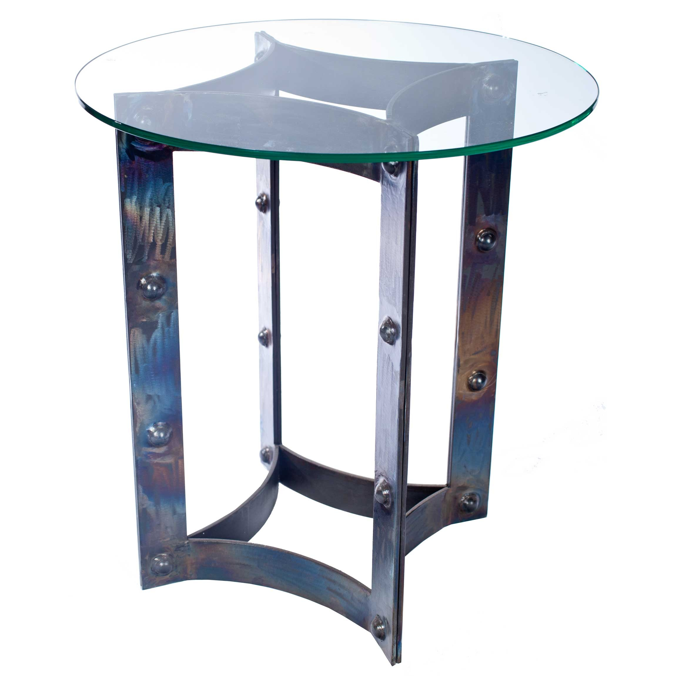 Sebastian iron end table base use your own table top for Side table base