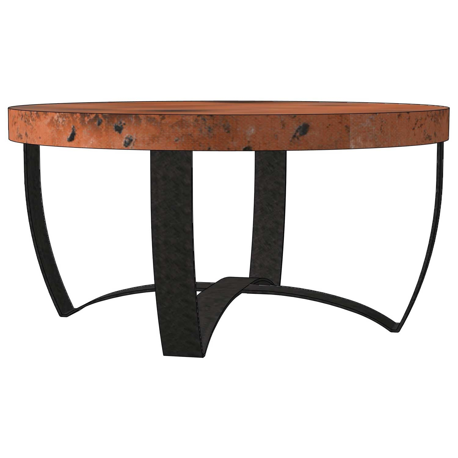 Round strap coffee table base only round iron coffee table base only Bases for coffee tables