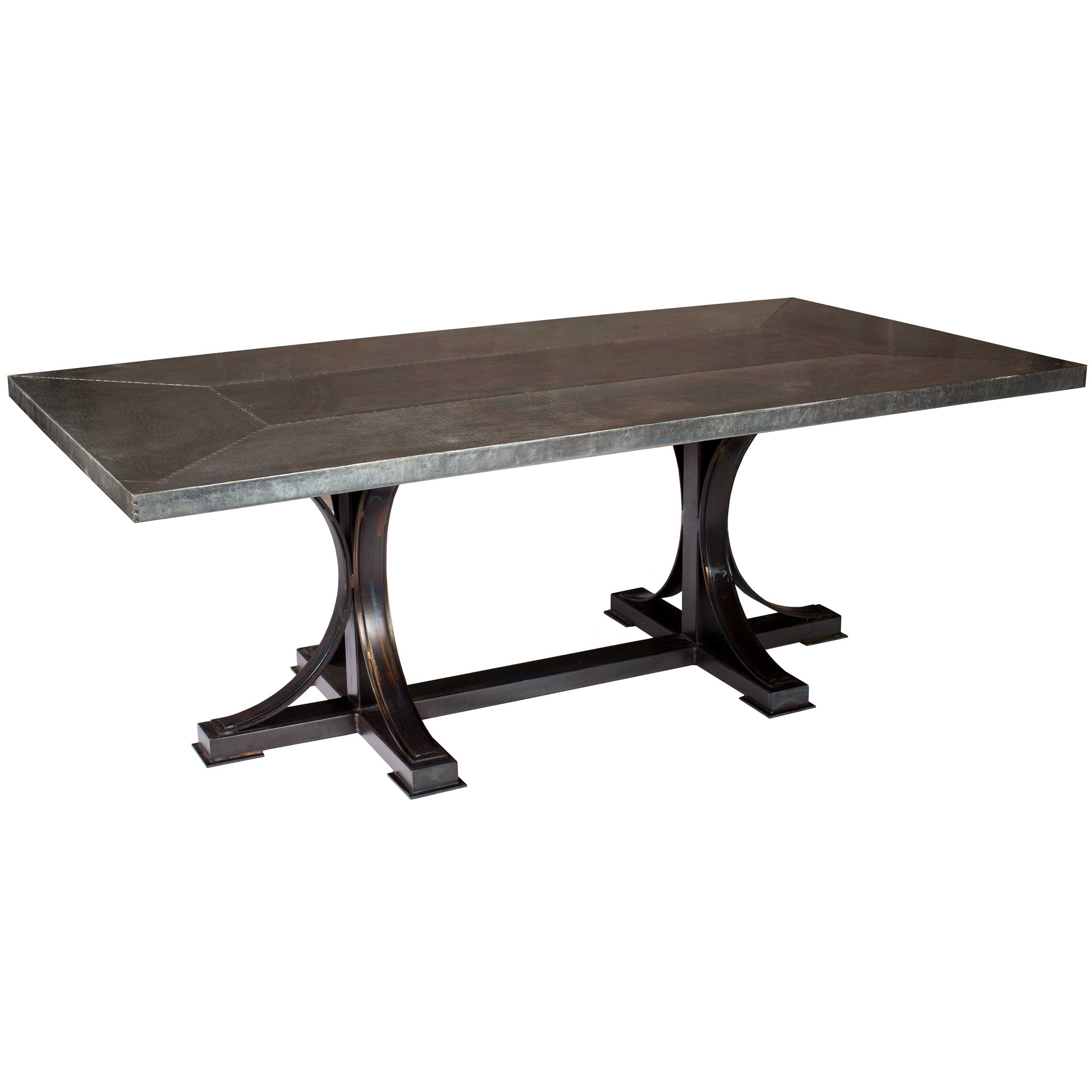 Winston 72quot x 44quot Dining Table with Rectangle Zinc Top : TWI PM 2M5 F 553B 2 from www.timelesswroughtiron.com size 2500 x 2500 jpeg 420kB