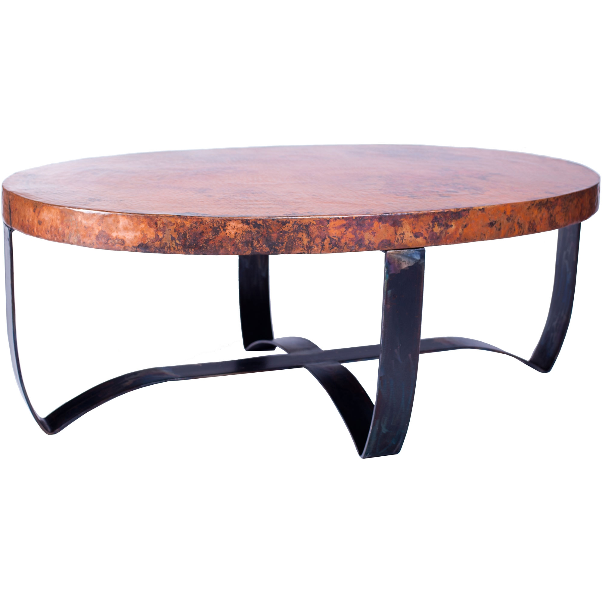 Pictured Is The Oval Strap Cocktail Table Base Available In 3 Finish Options And Supports A 48