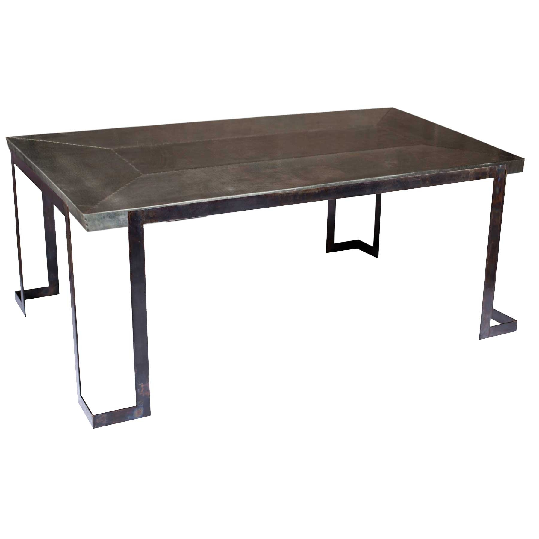 Pictured here is the Steel Strap Rectangle Dining Table  : TWI PM BFM5 F 513B 2 from www.timelesswroughtiron.com size 1800 x 1800 jpeg 220kB