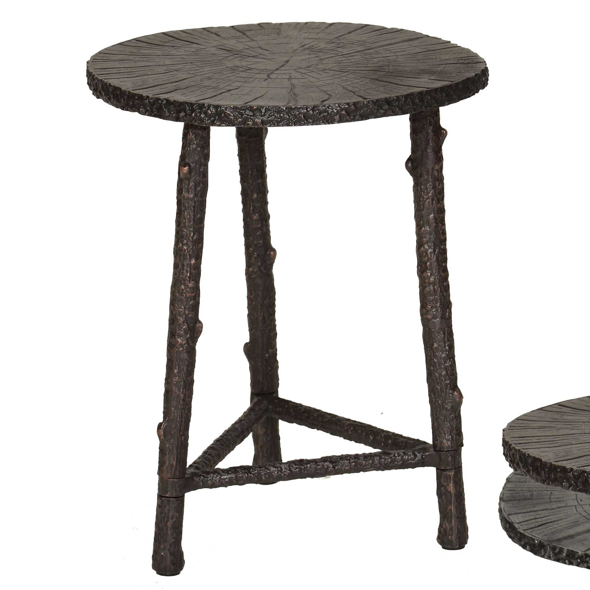 Rustic End Tables ~ Pictured is the rustic branch accent table with cast