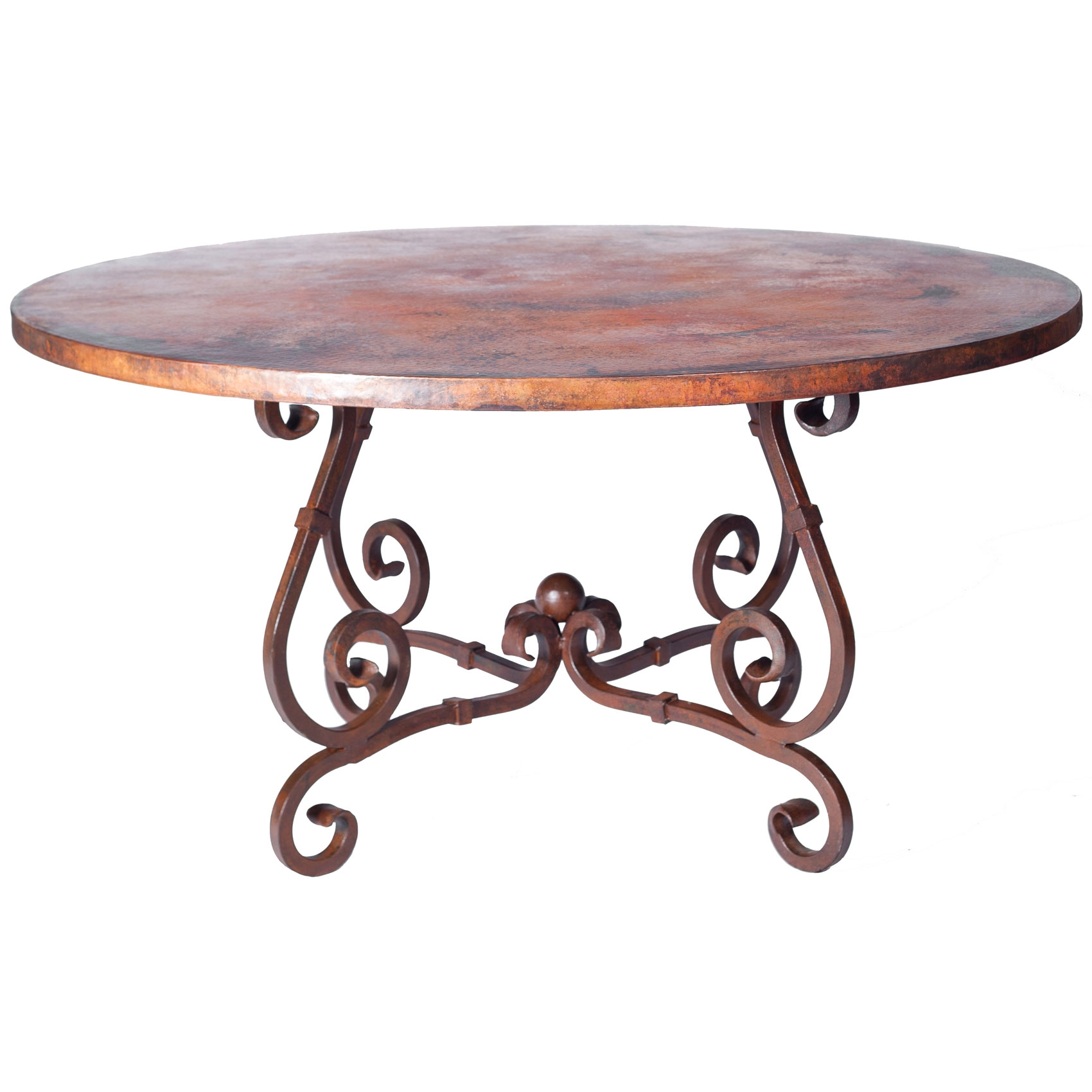 Pictured here is the french dining table with wrought iron for Iron dining table