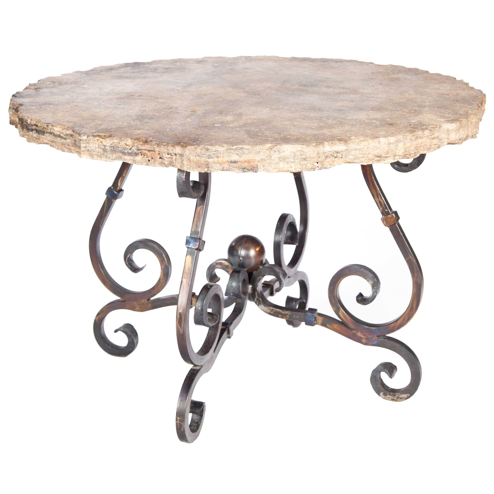 Pictured Here Is The French Dining Table With Wrought Iron