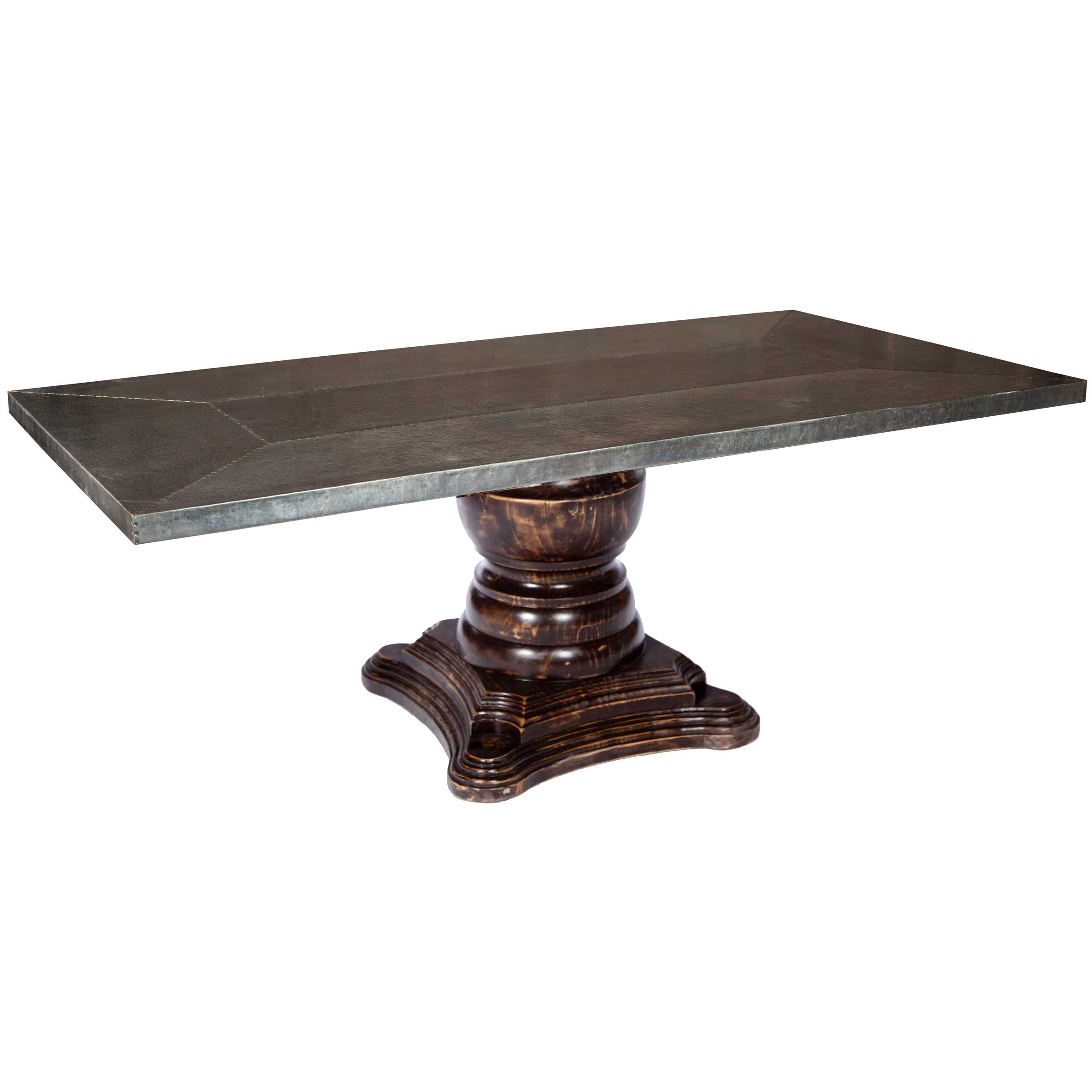 Zinc Top Dining Table Cheap With Awesome Llh Designs
